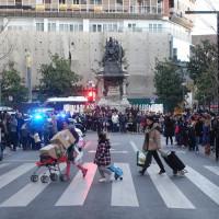 グラン・ビア通りから眺めるイサベル・カトリカ広場 Plaza Isabel la Catolica