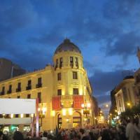 郵便局前のプエルタ・レアル広場