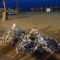 脱帽レベルの砂アート